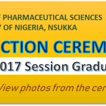 PHARMACY INDUCTION CEREMONY : 2016/2017 Session Graduates