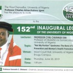 153rd Inaugural Lecture of the University of Nigeria