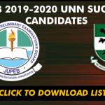 JUPEB MOP Admission List