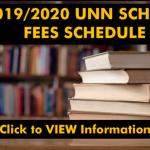 2019/2020 UNN SCHOOL FEES SCHEDULE